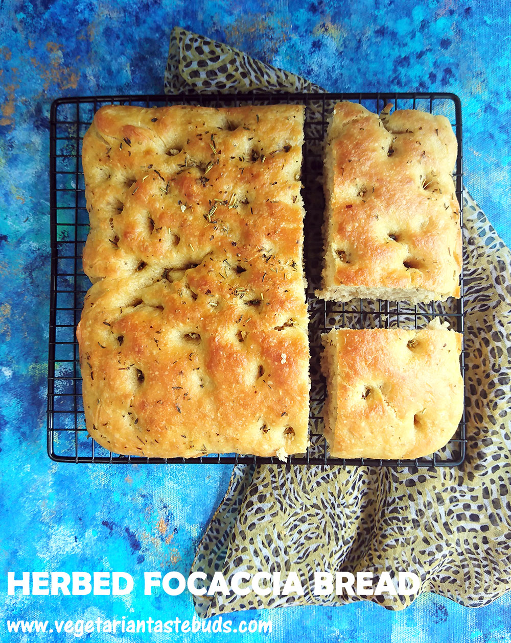 Tried Tested Herbed Focaccia Bread Recipe How To Make Eggless Focaccia Bread Vegetarian